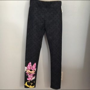 MINNIE BLK/GREY POLKA DOT GIRL YOGA PANT
